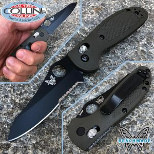 Benchmade - Pardue Mini Griptilian - Sheepfoot Black - OD Green - 555SBKHGOD - Knife