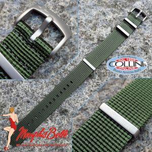Memphis Belle - Nylon strap NATO 22mm - Green - NYZN01GRS - replacement