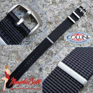 Memphis Belle - Nylon strap NATO 22mm - black - NYZN01BKS - replacement