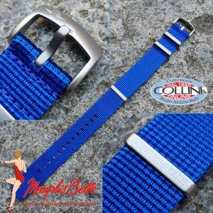 Memphis Belle - Nylon strap NATO 22mm - Blue - NYZN01BLS - replacement