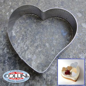 Pavoni - Heart shaped micro perforated bands PROGETTO CROSTATE XF30