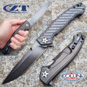 Zero Tolerance - Sinkevich Flipper Blackwash White Carbon Fiber - Sprint Run - ZT0452WBW - knife