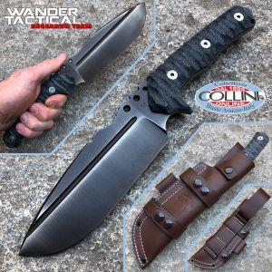 Wander Tactical - Uro - Iron Washed and Black Micarta - custom knife