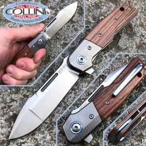 MKM - Clap by Bob Terzuola - titanium and Santos wood - MKLS01-ST - knife