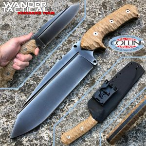 Wander Tactical - Smilodon Iron Washed and Brown Micarta - craft knife