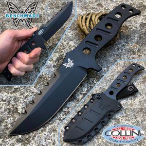 Benchmade - Adamas Black Plain Fixed by Shane Sibert - 375BK - knife