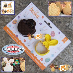 Decora -  Plastic cutters basket  and bunny - 2pcs