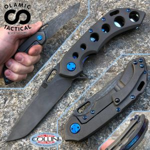 Olamic Cutlery - Wayfarer 247 - Dark Blast - Entropic with Progressive Holes - handmade knife