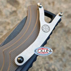Brian Tighe and Friends - Tighe Fighter Large knife Blackwash Grey Aluminum Flipper - 1100-3BG - knife