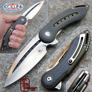 Begg Knives - Mini Glimpse Companion OD Green Carbon Fiber Inlays - Steelcraft - Knife