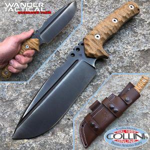 Wander Tactical - Uro - Iron Washed and Brown Micarta - custom knife