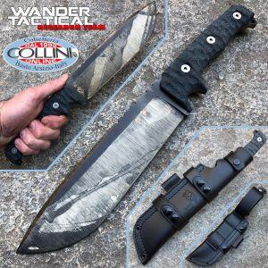 Wander Tactical - Dimorphodon knife - Raw Finish Camo & Brown Micarta - craft knife