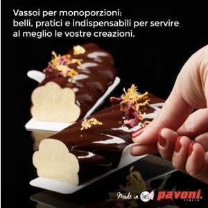 Pavoni -  Monoportions transparent squared trays 50 pieces