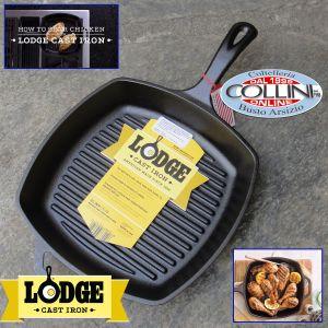 "Lodge - 10.5"" Pre-Seasoned Cast Iron Grill Pan - L8SGP3"