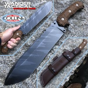 Wander Tactical - Godfather - Icebrush & Brown Wood - custom knife