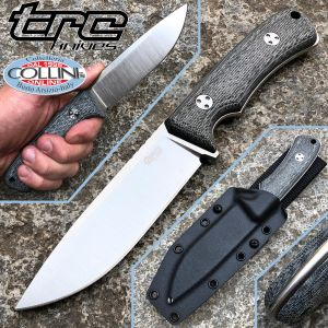 TRC Knives - South Pole - Elmax & Black Canvas Micarta - Knife