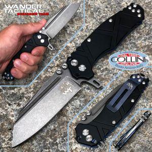 Wander Tactical - Mistral Folder knife III Generation - Black Aluminum - folding knife