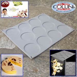 Pavoni - Silicone mold Gourmand line Small disk - 11 servings