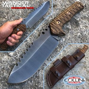 Wander Tactical - Uro Saw - Iron Washed and Brown Micarta - custom knife