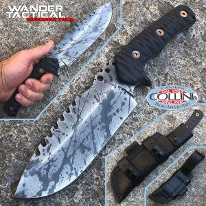 Wander Tactical - Uro Saw knife - Black Blood and Black Micarta - custom knife