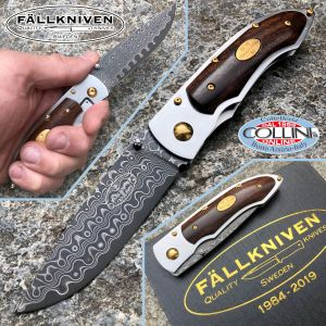 Fallkniven - PD knife 35 years - SGPS 67 layer steel - Ironwood - knife
