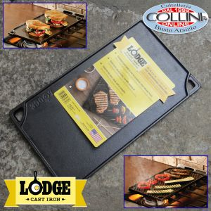 Lodge -  Reversible GrillGriddle, 9.5-inch x 16.75-inch