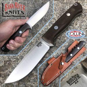 Bark River - Bravo 1 Field knife - A2 Steel - Green Canvas - BA07112MGC - knife