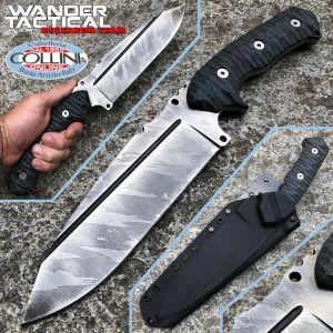 Wander Tactical - Smilodon Iron Washed and Black Micarta - craft knife