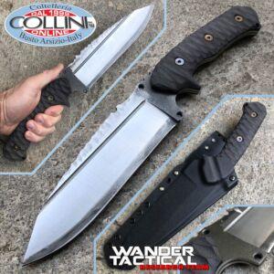 Wander Tactical - Smilodon Satin SanMai CoS & Black Green Micarta - craft knife