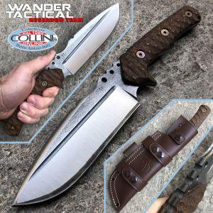 Wander Tactical - Uro knife - SanMai V-Toku2 & Brown Micarta - special custom