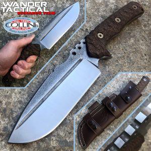 Wander Tactical - Uro knife - SanMai V-Toku2 & Brown Micarta - custom knife