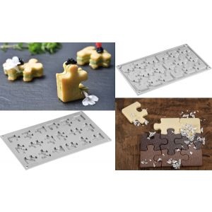 Pavoni - Silicone mold PUZZLE 18 servings