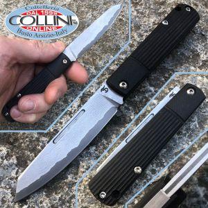 Simone Tonolli - Slip joint Folder knife - VG10 SanMai hammered - G10 Black - Craft Knife