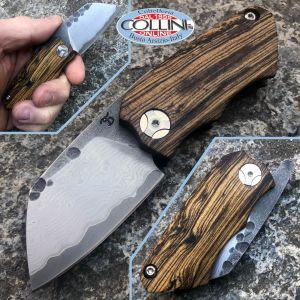 Simone Tonolli - Clutch Friction Folder knife - VG10 SanMai 67 layer - Bocote - Craft Knife