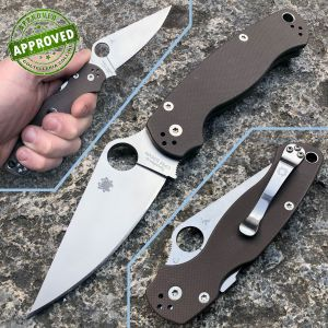 Spyderco - Paramilitary 2 - G10 Earth Brown S35VN - PRIVATE COLLECTION - C81GPBN2 - knife
