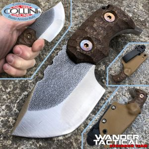 Wander Tactical - Tryceratops Compound knife - SanMai V-Toku2 & Brown Micarta - custom knife