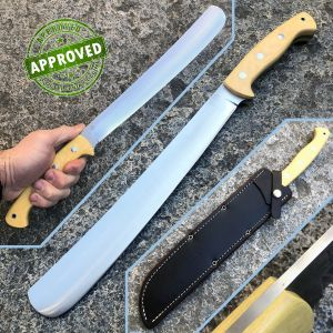Bark River - Golok Machete 3V - Antique Bone Linen Micarta - PRIVATE COLLECTION - knife