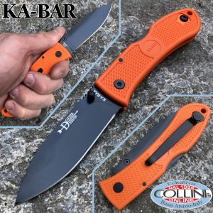 Ka-Bar - Dozier Folding Hunter knife 4062BO - Orange Zytel Handle - knife
