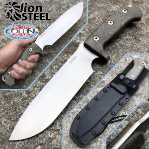 Lionsteel - M7 Satin - Green Canvas Micarta - M7CVG - knife