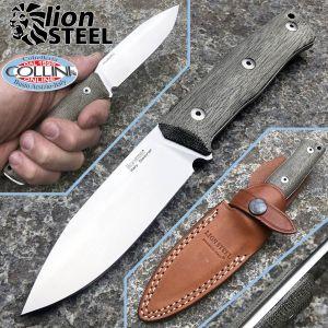 Lionsteel - B35 Bushcraft - Green Canvas Micarta - B35CVG - knife