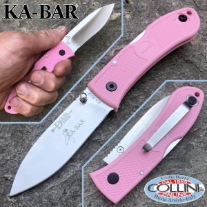 Ka-Bar - Dozier Folding Hunter knife 4062PKD - Pink Zytel Handle - knife