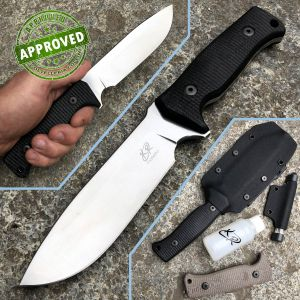 Knife Research - Enki knife - PRIVATE COLLECTION - Black G10 - knife