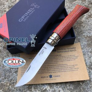 Opinel - N ° 08 Luxe birch knife red laminated - Knife
