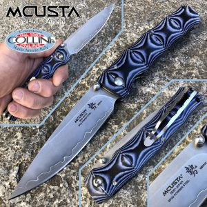 Mcusta - Minagi Shinra Maxima knife - SPG2 Powder Steel - Blue Micarta - MC-0201G - knife