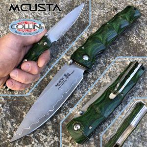 Mcusta - Shinari Shinra Maxima knife - SPG2 Powder Steel - Green Pakka Wood - MC-0203G - knife