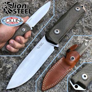 Lionsteel - B41 Bushcraft - Green Micarta - B41CVG - knife
