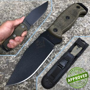 Ontario Ranger - RD-4 knife - Black Canvas Micarta - PRIVATE COLLECTION - knife