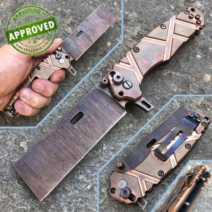 Wander Tactical - Franken Raw Redsun Knife - copper - PRIVATE COLLECTION - custom knife