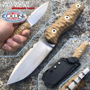 Wander Tactical - Scrambler knife - SanMai V-Toku2 & Desert Micarta - coltello custom