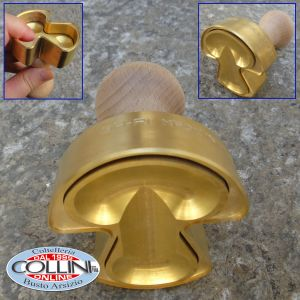 Made in Italy - Ravioli Cutter FUNGO ( MUSHROOM )  in Brass and Natural Wood